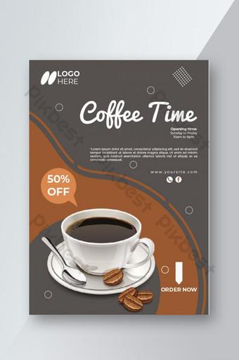 conception de modèle de flyer spécial café avec offre Modèle AI