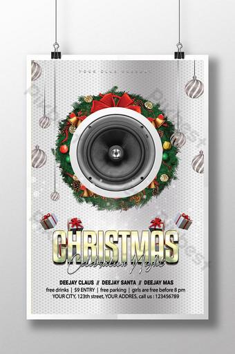 Joyeux Noël Célébration Night Party Flyer psd Modèle PSD