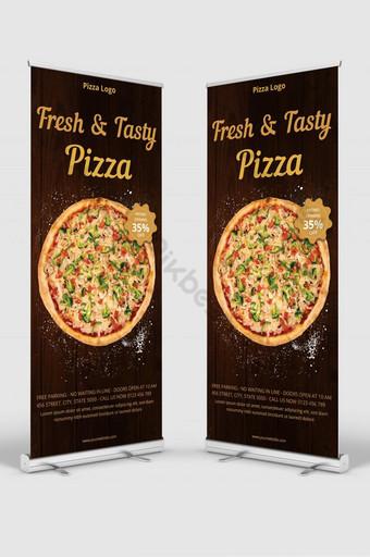 Carte de support à pizza avec modèle de menu de pizza Modèle EPS