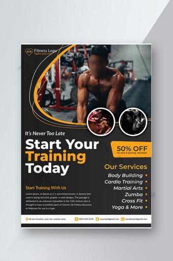 Modèle de conception de flyer de gym fitness Modèle PSD