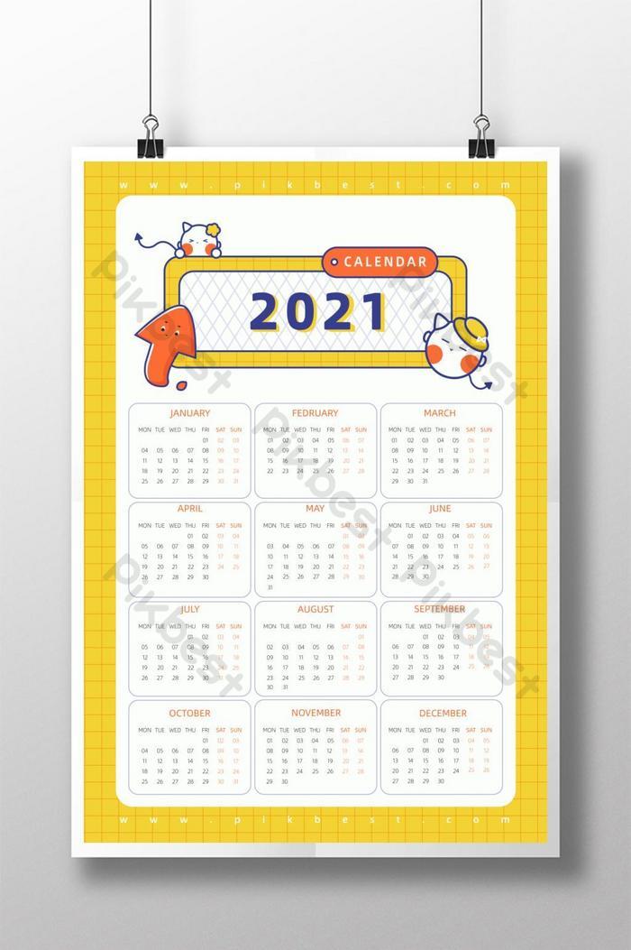 Template Kalender 2021 Kartun - Celoteh Bijak