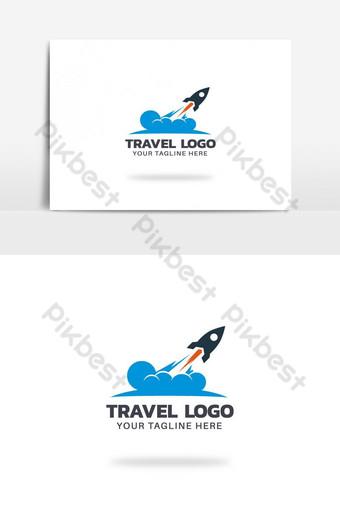 agencia de viajes vector logo design Elementos graficos Modelo AI