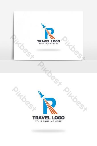 agencia de viajes vector logo design r carta logo Elementos graficos Modelo AI