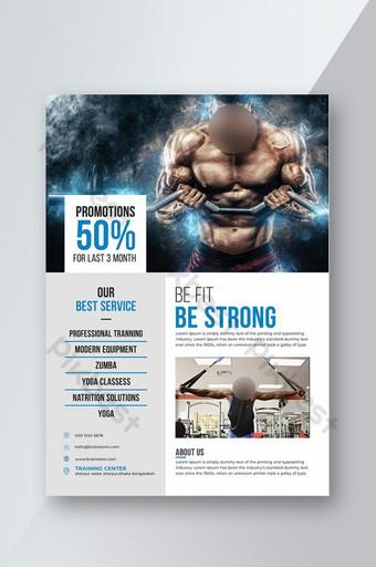 Modèle de Flyer de gym et fitness Modèle PSD