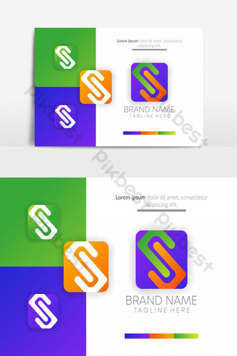 abstracto creativo s icónico diseño de logotipo de la empresa vector s letra ui icono UI Modelo EPS