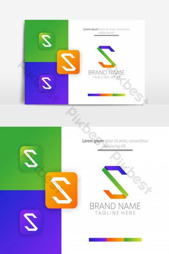 abstracto creativo s icónico negocio diseño de logotipo vector s letra logo s letra ui icono UI Modelo AI