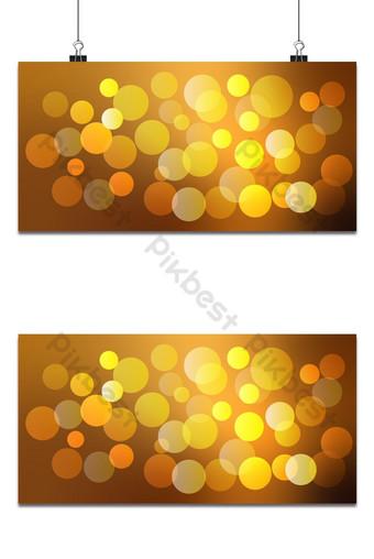 Fondo claro abstracto bokeh dorado con elementos vectoriales Fondos Modelo AI
