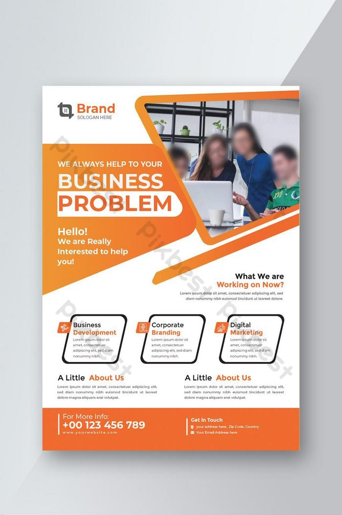 business abstract vector template. brochure design, cover modern layout, annual report.