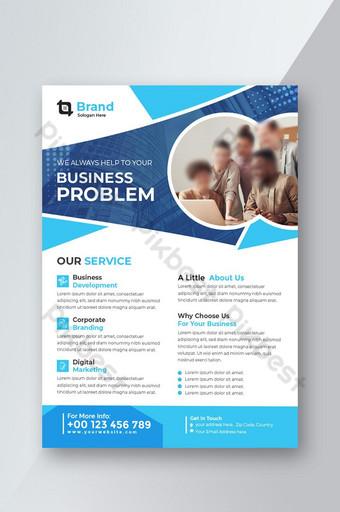 Corporate Business flyer template vector design Flyer template Forme géométrique Modèle AI