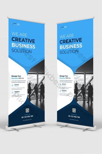 negocio corporativo profesional enrollar banner y stand banner diseño de plantilla Modelo AI