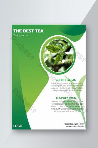 Creative Corporate et Green Nature Flyer Design pour la promotion Modèle EPS