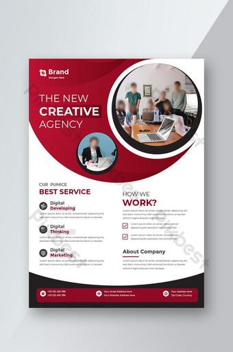 Affiche dépliant brochure couverture conception mise en page espace pour fond de photo Modèle AI