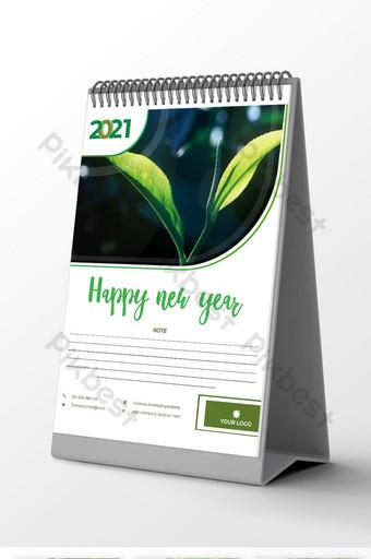 2021 desk Calendar design template vector file 12 month for free download Template AI