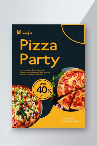 Meilleur flyer de nourriture ou flyer de fête de pizza Modèle PSD
