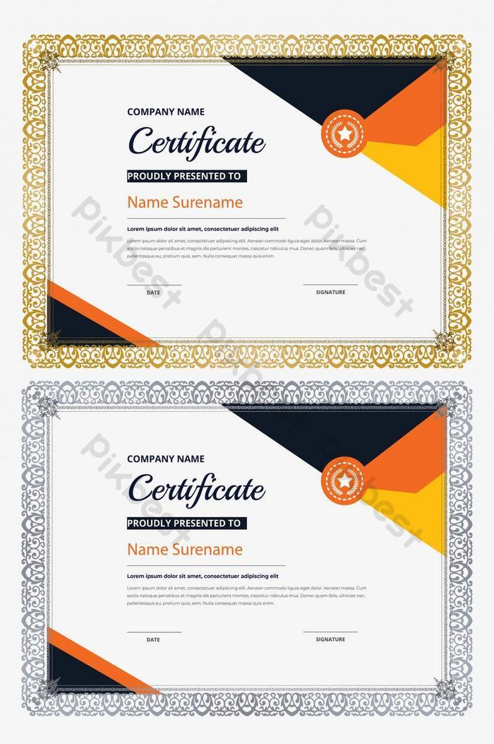 Modele De Certificat D Appreciation Modele De Certificat De Diplome Elegant Psd Gratuit Pikbest