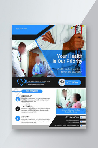 Health Care Service and Medical Promotion Flyer Template AI