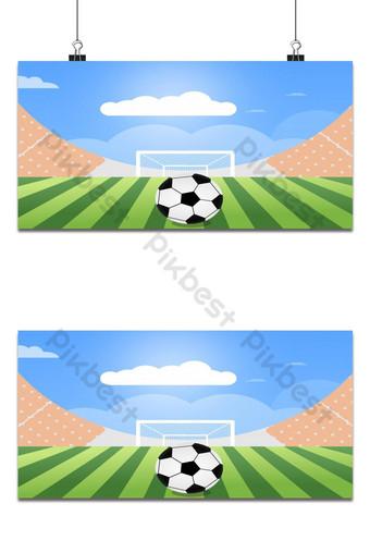 Football Sports Stade Stadium Arena Vert Football avec la balle devant le but Fond Modèle EPS