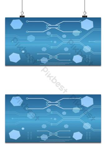 La carte de circuit imprimé numérique de haute technologie abstraite sur le concept de vecteur de fond bleu Fond Modèle EPS