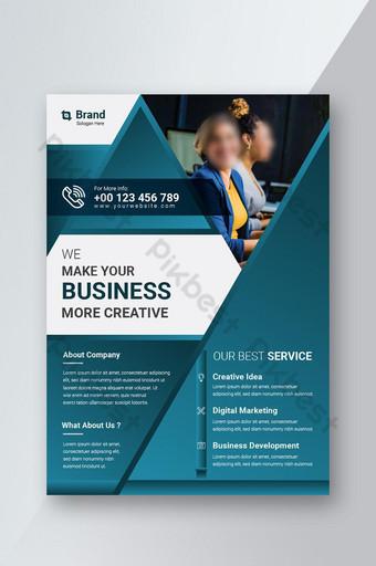 Corporate Business Flyer affiche brochure couverture conception mise en page fond Modèle AI