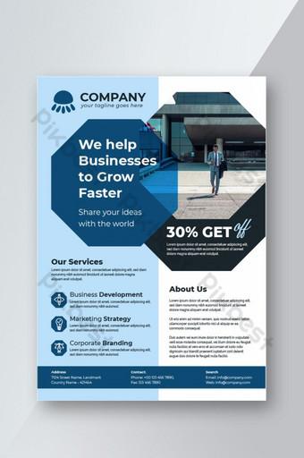Brochures de conception de flyer d'entreprise créative a4 Template Cover Book and Magazine Modèle AI