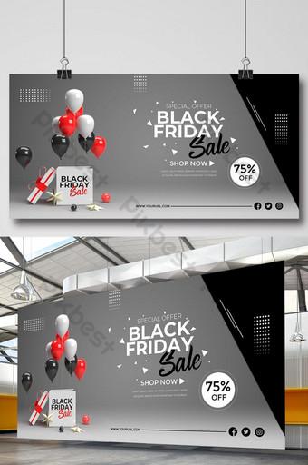 diseño de banner de venta de compras de viernes negro Modelo PSD