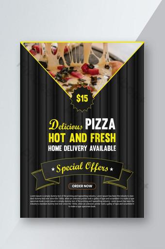 Modèle de Flyer de pizza délicieuse Modèle AI