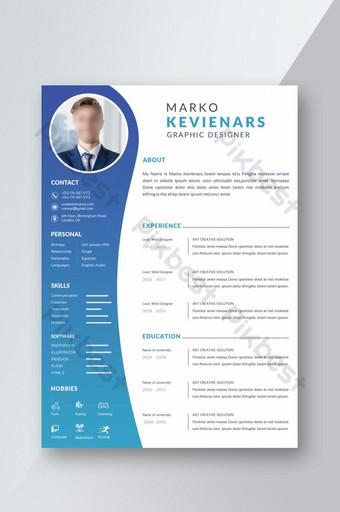 Mẫu CV hoặc Sơ yếu lý lịch đẹp Thiết kế nền màu Gradient phong cách thanh lịch Bản mẫu DOC