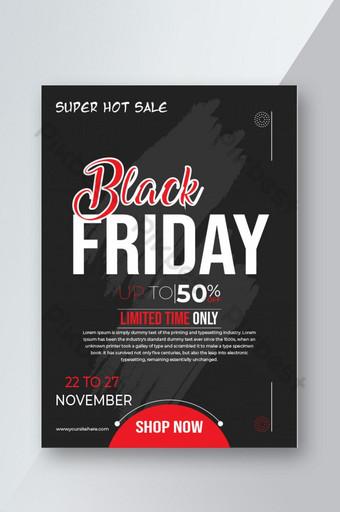 Conception de modèle de flyer vente vendredi noir Modèle AI