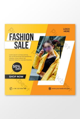 plantilla de publicación de redes sociales de venta de moda Modelo AI