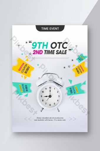 venta de tiempo promoción de compras plantilla de cartel de estilo corea psd Modelo PSD