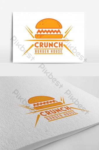 logotipo de la casa de hamburguesas crujiente logotipo de la tienda de hamburguesas Modelo AI