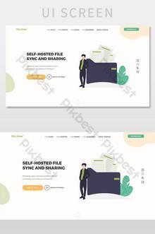 File Manager Landing Page UI Screen UI Template SKETCH