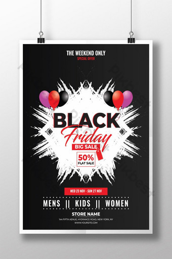 Modèle de Flyer de vente vendredi noir Modèle AI