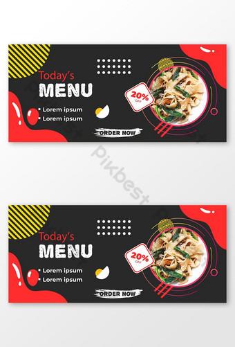 menu du jour offre spéciale de nourriture bannière publication de médias sociaux Modèle EPS