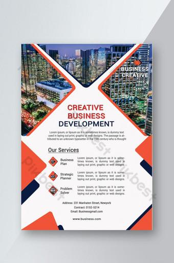 Conception de flyer simple et moderne d'entreprise Modèle PSD