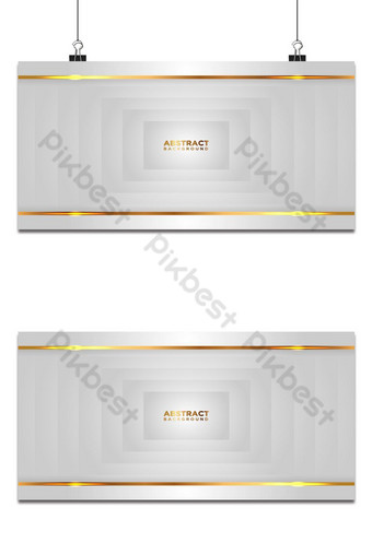 Abstract puting parisukat na background na may mga linya ng ginto Modernong puting overlap na estilo ng layer Background Template EPS