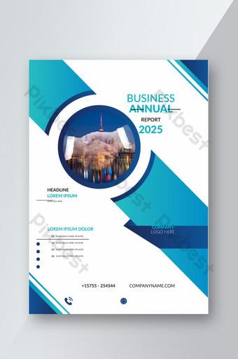 Rapport annuel et conception de la couverture abstraite pour le dépliant commercial et le livret Modèle EPS