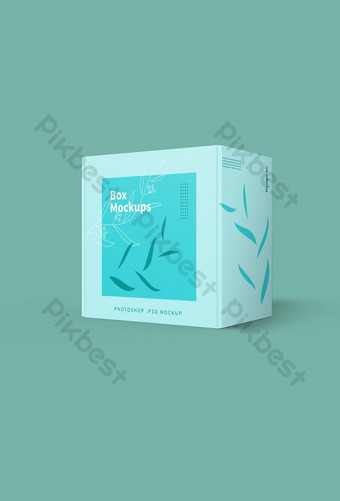 Mailing Box Simple fresh Mockup Template PSD