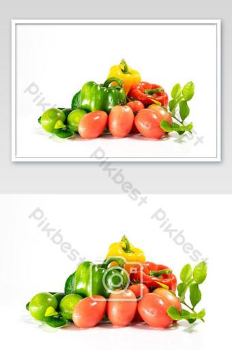 Nhóm rau tươi nấu ăn bị cô lập trênền trắng Nhiếp Ảnh Bản mẫu JPG