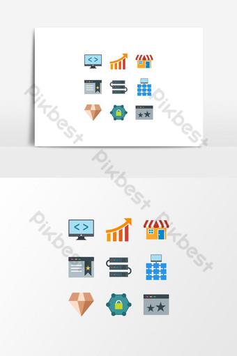 Unique Search Engine Optimization Icons Set On Transparent Background UI Template EPS