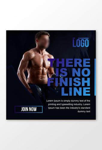 diseño de publicación de redes sociales de gimnasio fitness Modelo EPS