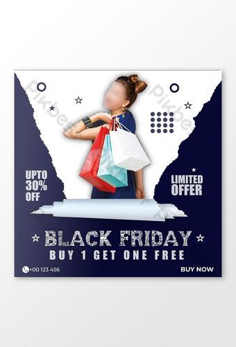 Publication sur les réseaux sociaux de l'offre spéciale Black Friday Modèle EPS