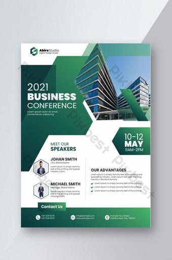 Modèle de Flyer de nouvelle conférence commerciale 2021 Modèle AI