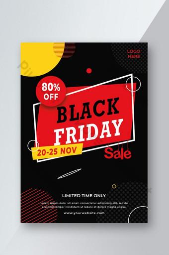 plantilla de volante de venta de viernes negro creativo l psd Modelo PSD