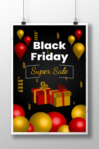 plantilla editable eps de cartel de viernes negro Modelo EPS