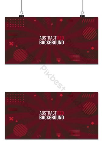 Diseño degradado de fondo rojo abstracto con composición geométrica minimalista futurista Fondos Modelo AI