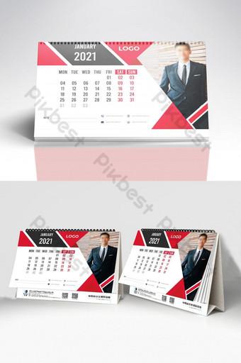 Modèle premium de calendrier de bureau 2021 Modèle EPS