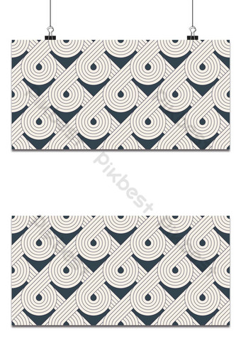 patrón sin costuras con líneas geométricas repitiendo mosaicos geométricos Fondos Modelo EPS