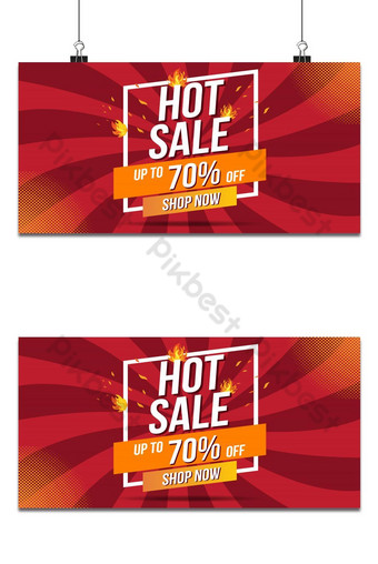 Hot Sale Fire Burn template banner concept design, Big sale special offer.End of season Backgrounds Template AI