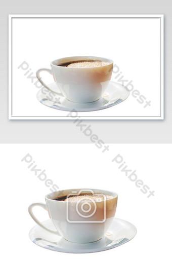 negro de café caliente eeeeeeeeeeeeeeeeeeeeeeeeeeeeeeeeeee taza con burbuja aislada sobre fondo blanco Fotografía Modelo JPG